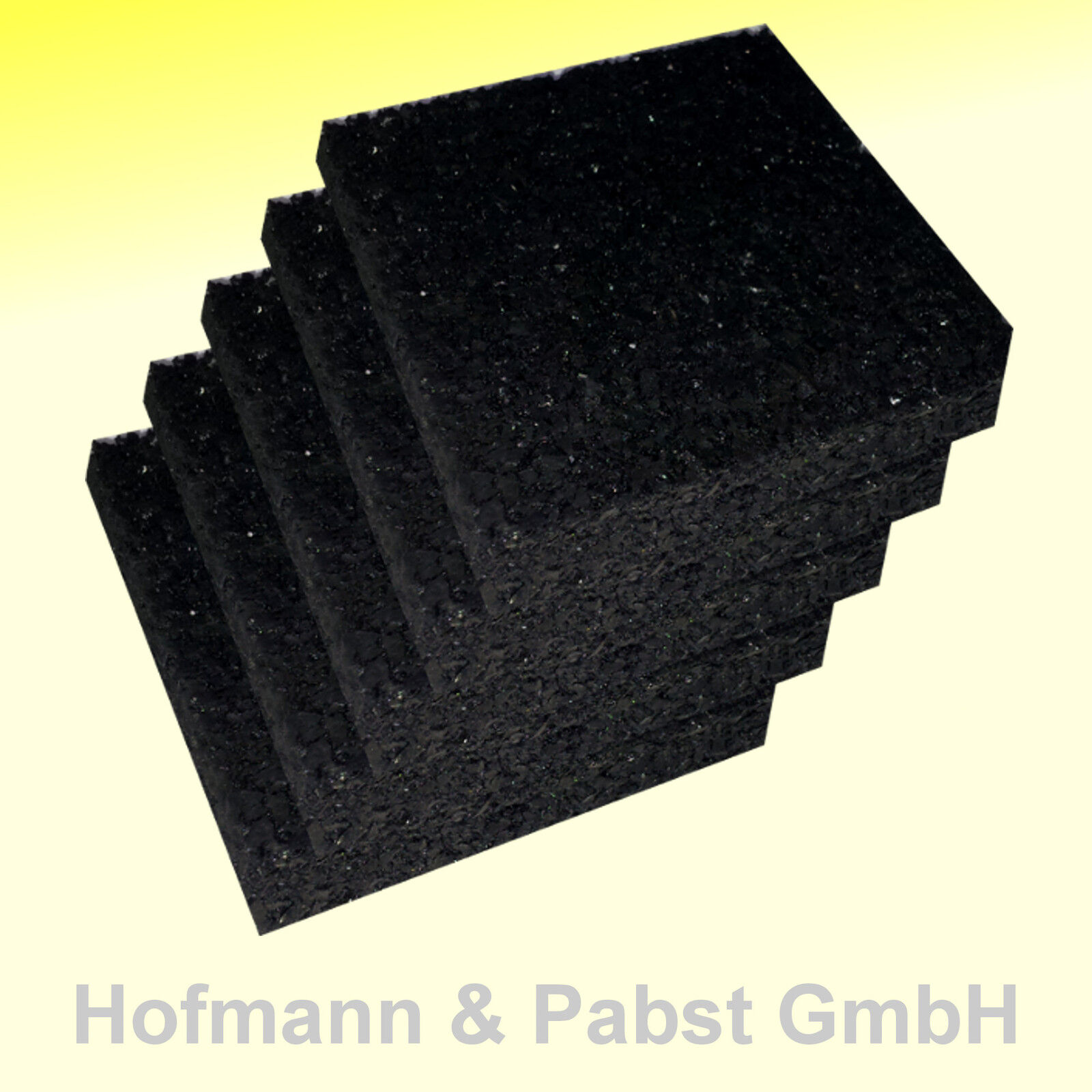 12 mm Pads, Terrassenpad, Unterlage, Terrassenbau, Gummigranulat 90 x 90 mm