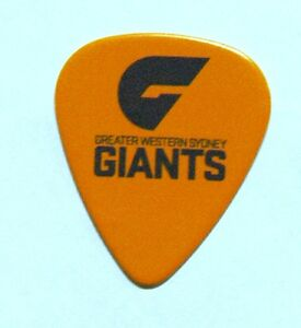 Greater-Western-Sydney-Giants-Guitar-Picks-5-Pack-Official-AFL-Product-FREE-POST