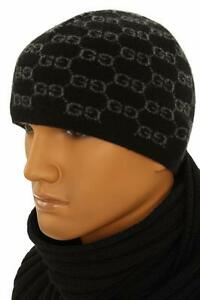 6ffb8ee0f NEW GUCCI LUXURY 100% CASHMERE GG GUCCISSIMA BEANIE HAT ONE SIZE ...
