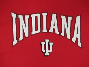 NWOT-INDIANA-UNIVERSITY-HOOSIERS-RED-LARGE-T-SHIRT-C617