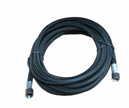 RDGTOOLS BLACK AIRBRUSH BRAIDED HOSE BEST QUALITY 1//8-1//8 COMPRESSOR