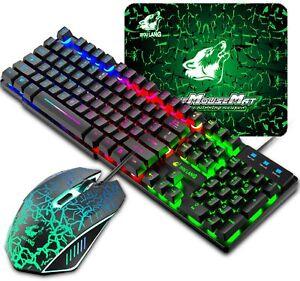 Layout Italiano QWERTY Tastiera e Mouse da Gioco USB Cablato RGB LED per PC PS4