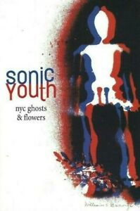 SONIC-YOUTH-NYC-GHOSTS-amp-FLOWERS-PROMO-POSTCARD-WM-BURROUGHS-ART-SIGNED-BY-TM