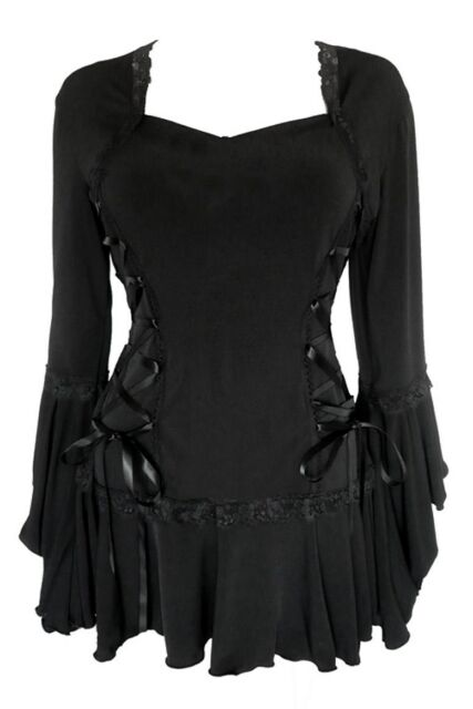 Womens BLACK Gothic Victorian BOLERO Plus Size Corset Top