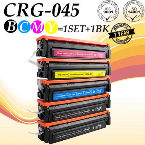 5Pk SET CRG 045 Toner for Canon MF632cdw ImageClass MF634cdw LBP612cdw 1243C001