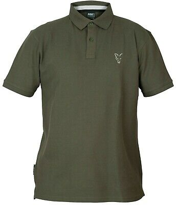Fox Collection Verde E Argento Polo-varie Taglie Disponibili-