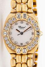 Estate $30,000 2ct VS F Diamond FANCY CUT CHOPARD MOP 18k Gold Ladies Watch