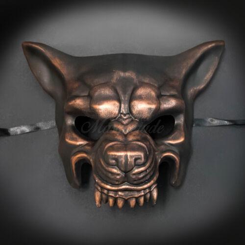 Copper Black Ball Mask Wolf Animal Masquerade Mask Men/'s Masquerade Mask