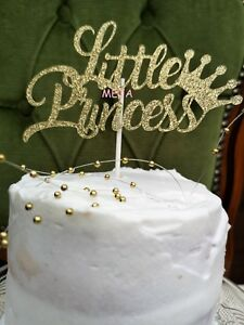 Image Is Loading HAPPY BIRTHDAY CAKE PICK TOPPER DECORATION LITTLE PRINCESS