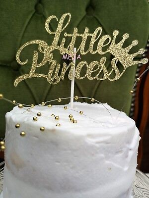 Awe Inspiring Happy Birthday Cake Pick Topper Decoration Little Princess Gold Personalised Birthday Cards Paralily Jamesorg