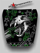 Arctic Cat Wildcat 1000 Hood Graphic Decal Sticker Skull Cat Green