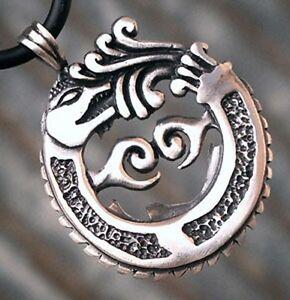 Tribal ouroboros dragon serpent mayan aztec inca norse viking pewter la imagen se est cargando tribal ouroboros dragon serpent mayan aztec inca norse aloadofball Image collections