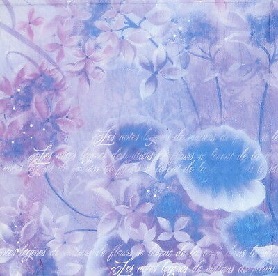 Rice paper -Purple Fantasy- for Decoupage Scrapbooking Sheet Craft