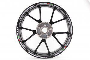 Rimstriping Ducati Multistrada 1200 White Motorbike Wheel Rim Stickers Decals