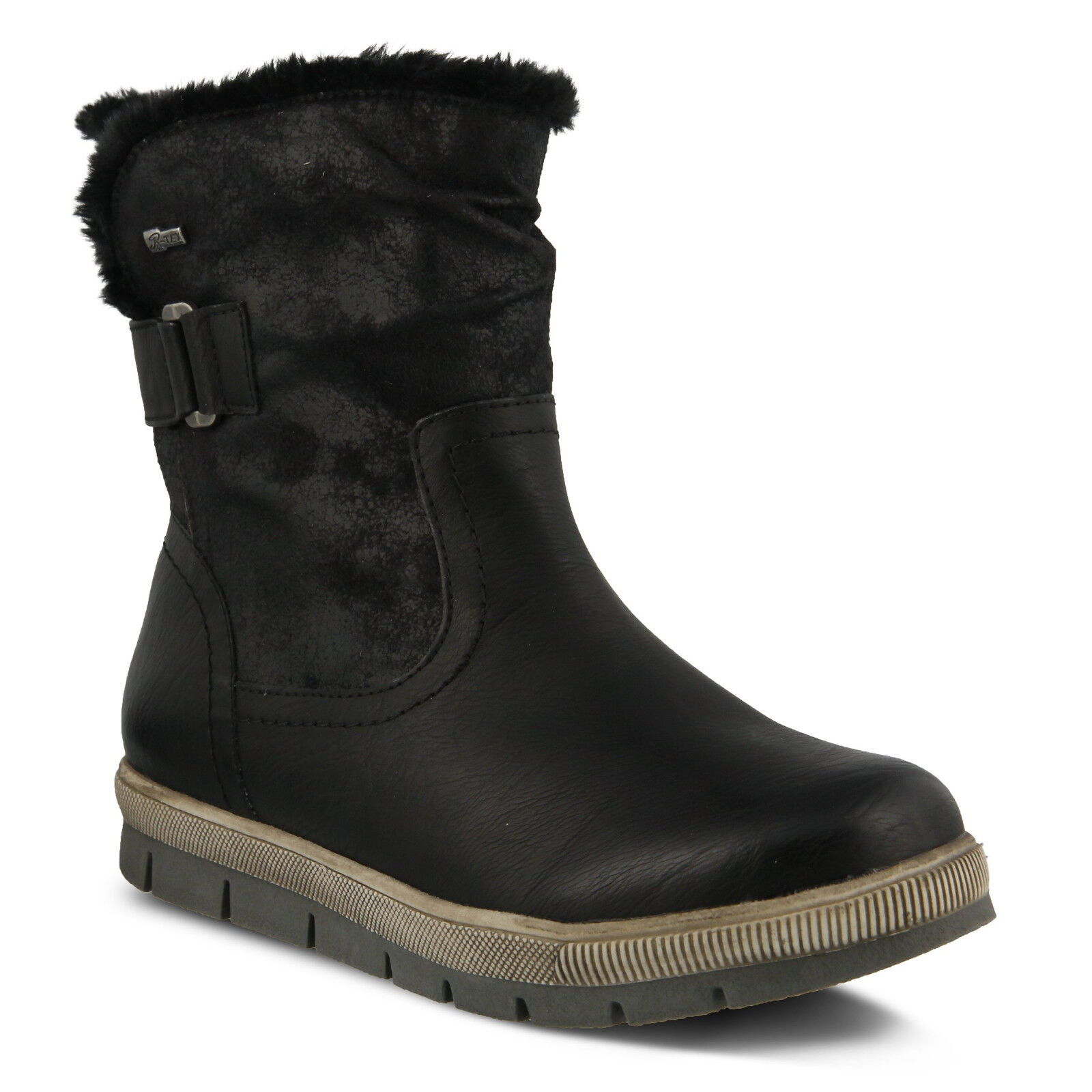 Spring Step Yamma Black Vegan Leather Winter Snow Boots Womens EU 39   8.5