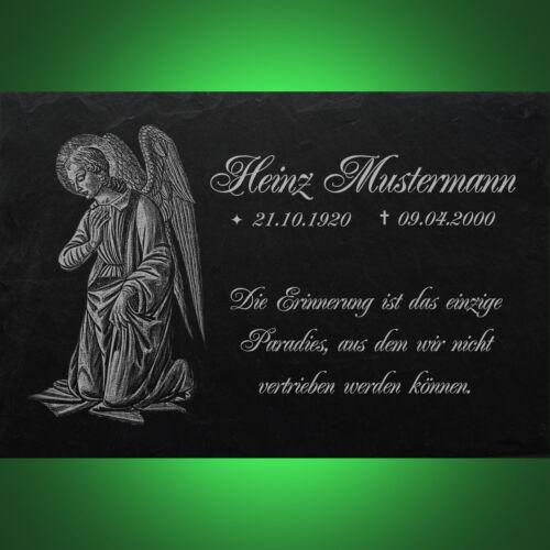 Grabstein GRABPLATTE Grabmal Ähren 01►Gravur mit Inschrift Motiv◄ 20x15 cm