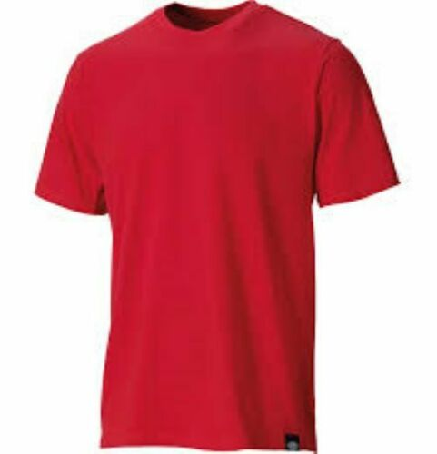 DICKIES SH34225 COTTON CREW NECK SHORT SLEEVE RED PLAIN WORK CASUAL T-SHIRT