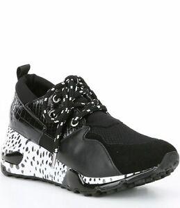 Steve Madden Wedge Cliff Sneakers Black