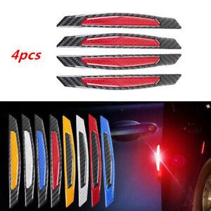 4x Yellow Car Warn Strip Tape Bumper Safety Sticker Decal Reflective Warning an