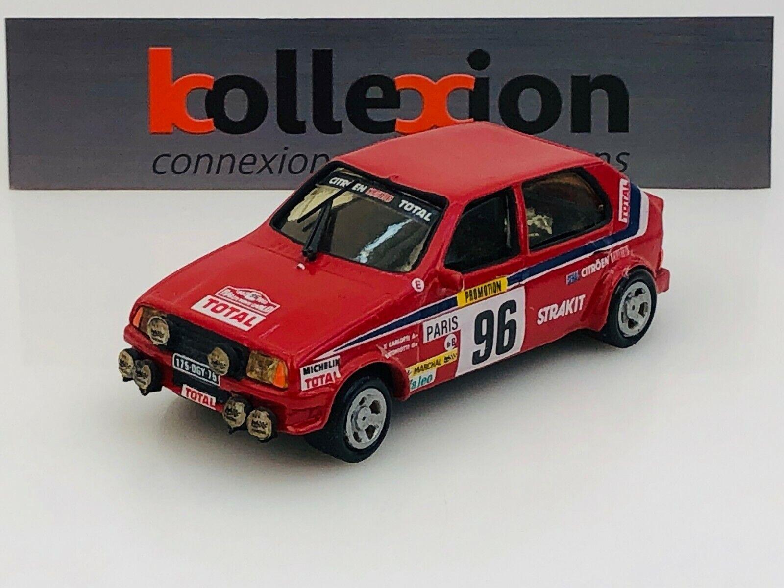 DM MODELES CITROEN Visa GRB n°96 Rallye Montecarlo 1982 X. Carlotti  1.43