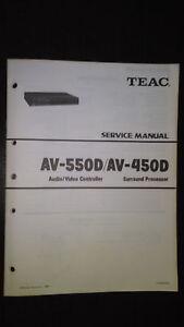 teac av 550d 450d service manual original repair book audio video rh ebay com ft-450d service manual pdf eos 450d service manual