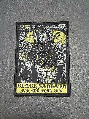 Black Sabbath The End Tour souvenir Embroidered Cloth Patch