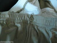 Woman Landsend Lands End Khaki Pants Chino Elastic Lands' Waiste Size 44