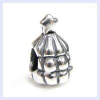 STR Silver Chubby Christmas Tree with Star Gift Bead f/ European Charm Bracelet