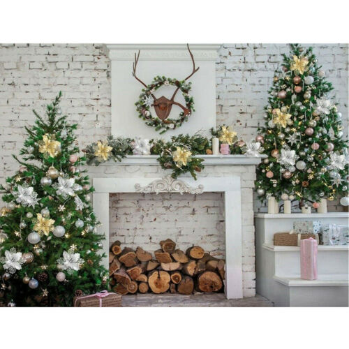 10PCS Artificial Fake Flower Christmas Tree Decoration Poinsettia Glitter Xmas R