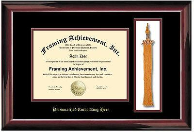 Graduation Diploma Frame Embossed University Frames Tassel Holder Certificate Ebay