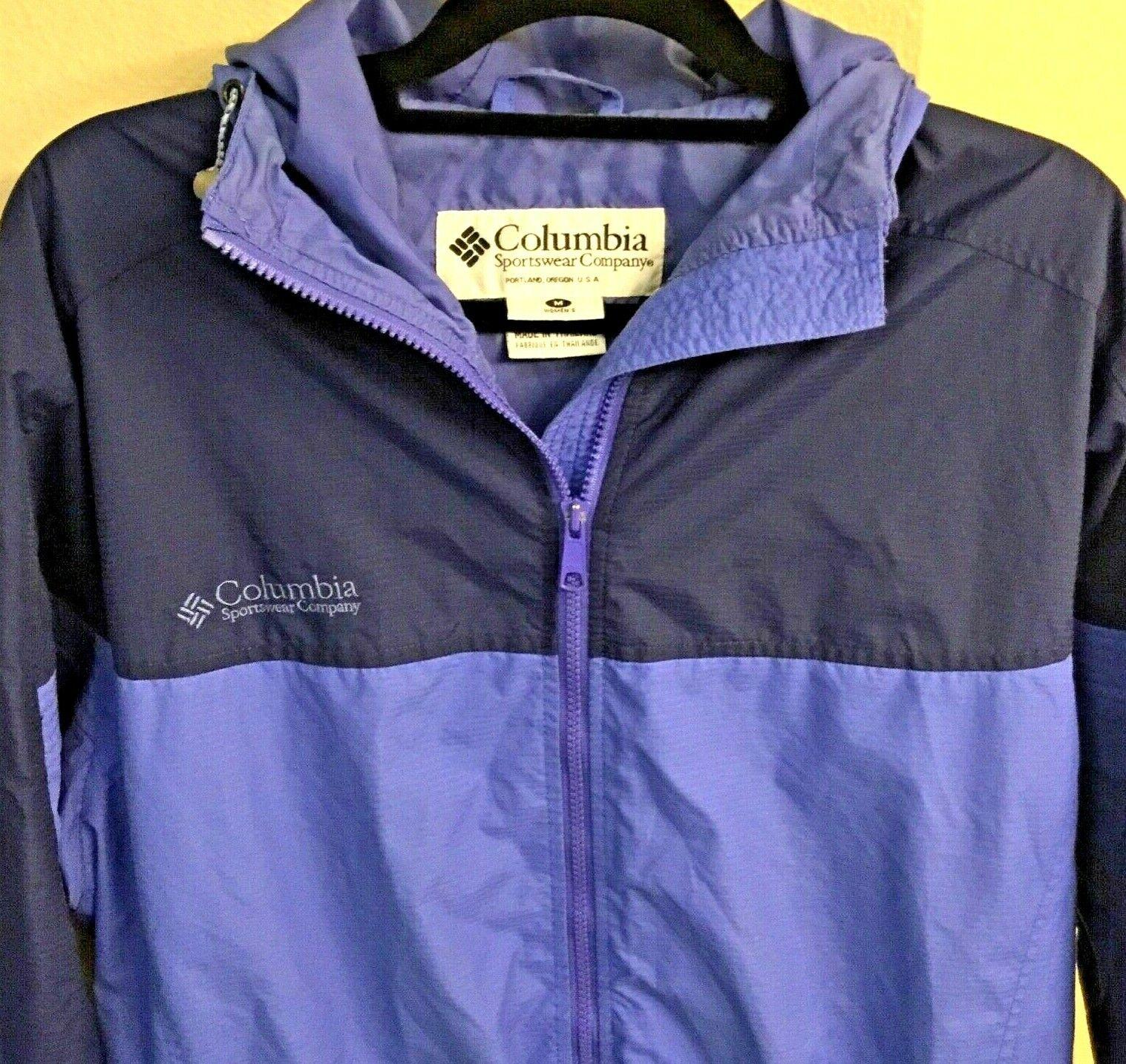 WOMEN'S MEDIUM COLUMBIA HIKING JACKET Full Zip Hooded Outdoor Trail Ski Coat