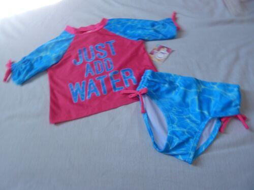 NEW OP Rashguard Board Shirt Shorts 2pc Swim Bathing Suit Outfit Girls 2T 3T 4T