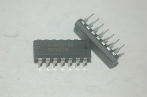 SN74HC20N TEXAS INSTRUMENTS Dual NAND Gate 14-Pin Dip Qty-5