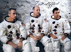 Gemini 10 - Repro-Autogramm MICHAEL COLLINS JOHN YOUNG 20x25 cm
