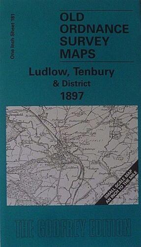 Old Ordnance Survey Maps Ludlow Tenbury  Area /& Map Woofferton 1897 Godfrey Edit