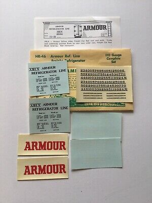 Champ Decals HO Scale HR-66 WFEX Great Northern GN Refrigerator 1-2