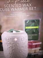Sonoma Scented Wax Cube Warmer White Electric Warmer 6 2 Packs Of Wax Incl