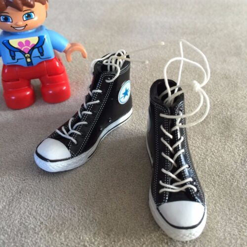 """SELLER 1//6 Converse All Star Style Sneakers BLACK For 12/"""" Female Figure U.S.A"""