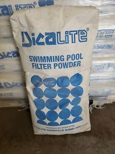 Dicalite De Diatomaceous Earth Pool Filter Powder White 50 Lb Bag Ebay