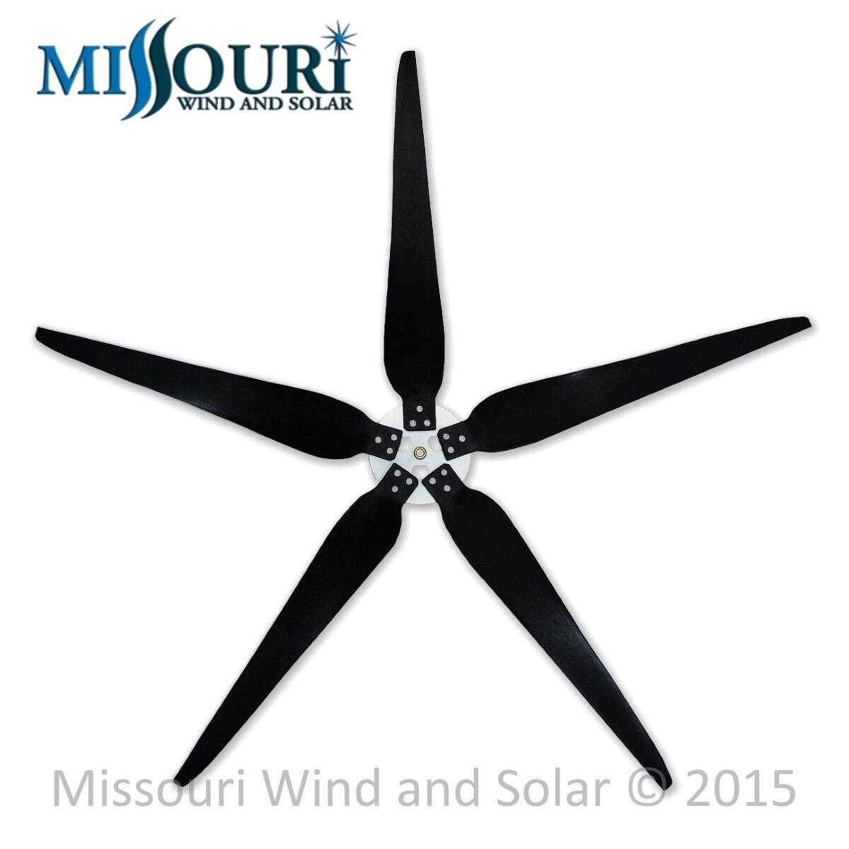 5 Raptor Generation 5™ 38 Inch Blades and Hub for Wind Turbine Generators