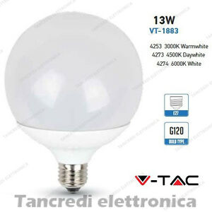 Lampadina-led-V-TAC-13W-75W-E27-VT-1883-G120-globo-lampada-lampadine-SMD-bulbo