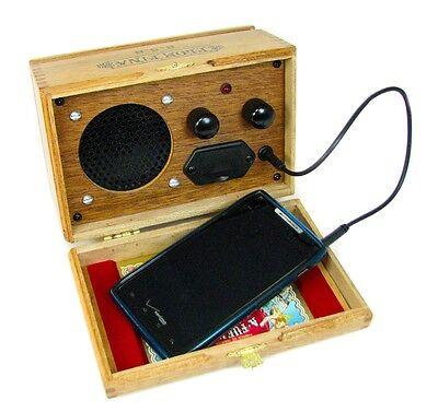 Cigar Box Smart Phone Amplifier/Speaker - Beautiful all-wood box - 52-06-03
