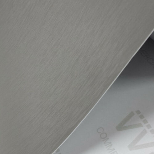 Silver Brushed Aluminum Steel Vinyl Film 5ft x 26ft Bubble-Free Wrap Car Bike