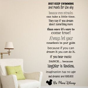 be more disney sayings vinyl wall art sticker quote