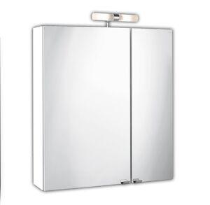 Spiegelschrank 5429 76 in wei mit aufbauleuchte schalter und steckdose ebay for Spiegelschrank mit steckdose