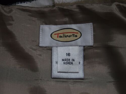 Talbots Rock Gestreift A Baumwoll 16 linie Sz Gefüttert Seitenreißverschluss 4UnUWFZ