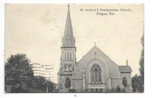 Wellington-County-FERGUS-ONTARIO-St-Andrew-039-s-Presbyterian-Church-Circa-1907