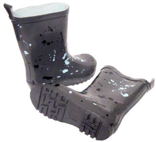 Infants Girls Boys Dark Grey Paint Splash Wellington Wellies Boots Size 7//24