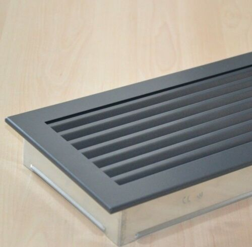 Acier Grille Ventilation cheminée grille chaude Air Grille 5 Tailles CHEMINEE-Graphite