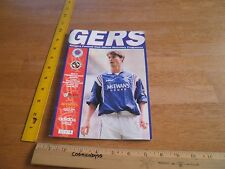 GERS Rangers Ready Football Club numbered program 1996 vs Dundee United soccer